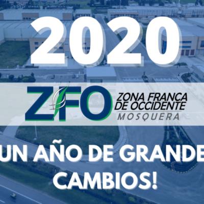 2020 ¡Un año de grandes cambios! Zona Franca de Occidente les desea un Feliz Año nuevo 2021
